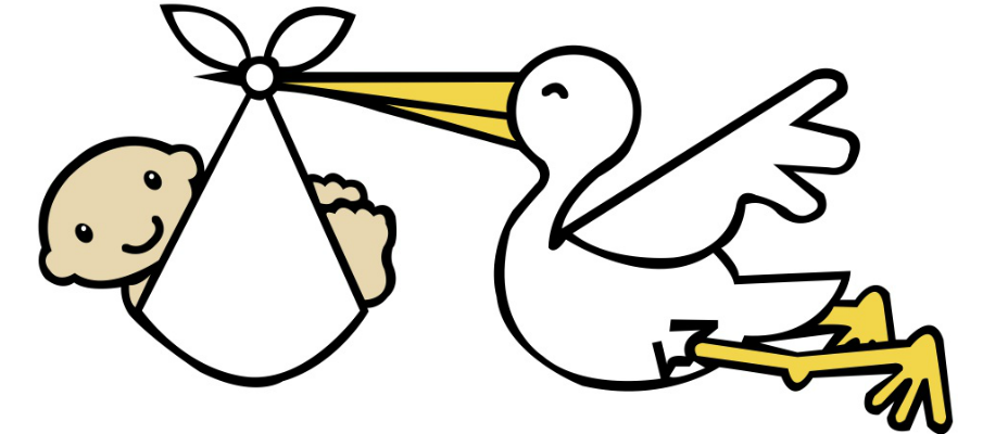 Stork clipart child birth. Oh baby signs how