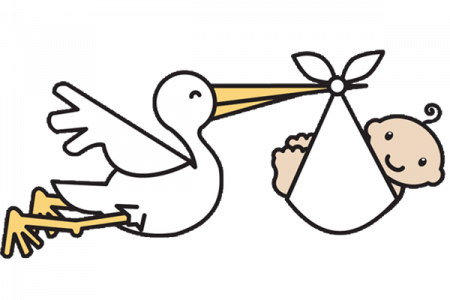 Stork vector baby. With image library