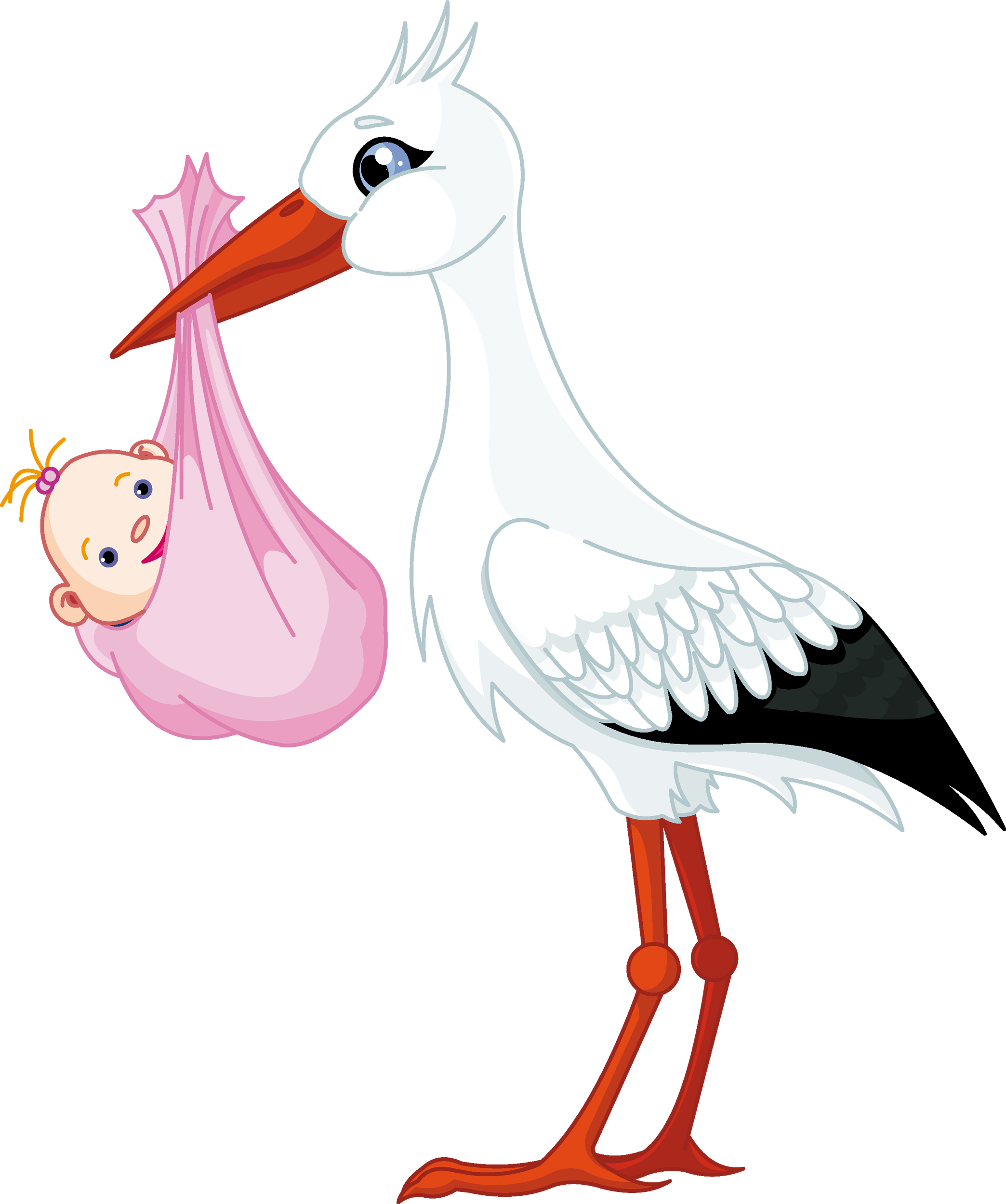 Stork vector clipart. Collection of free clattering