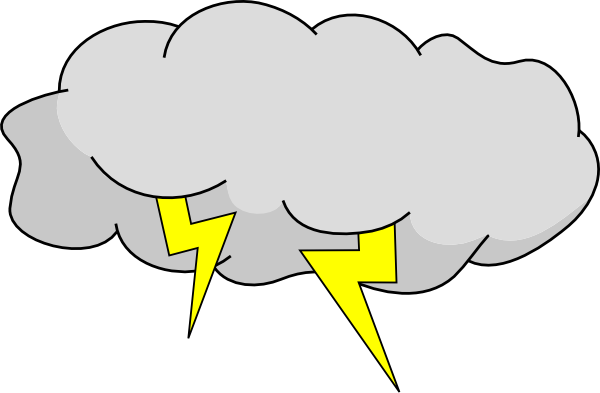 Earthquake vector clipart. Storm cloud weather clip