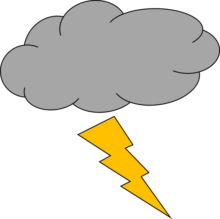 Thunderstorm clipart thunder lighting. Lightning strike cloud free