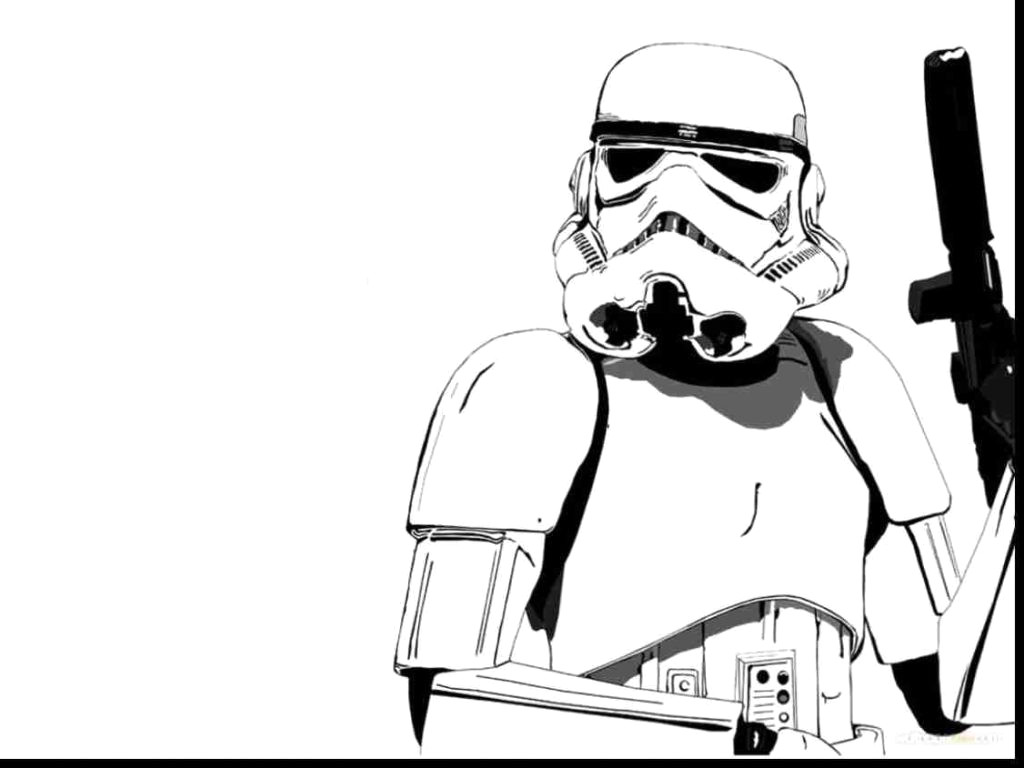 Stormtrooper clipart simple. Storm trooper coloring pages
