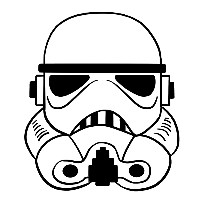 Stormtrooper svg. How to draw a