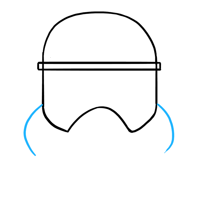 Stormtrooper clipart simple. How to draw a