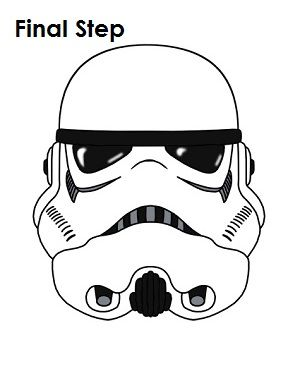 Stormtrooper clipart step by step. How to draw star