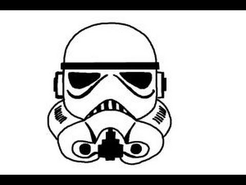 stormtrooper clipart step by step