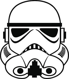 Stormtrooper clipart step by step. Sticker decal choose size