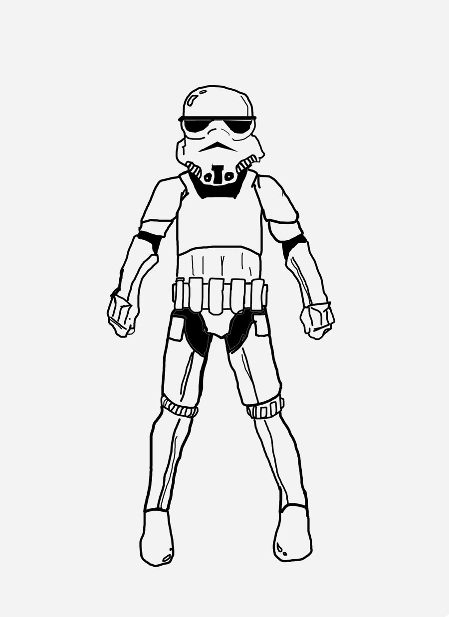 Stormtrooper clipart storm trooper. Reliable coloring page jacb
