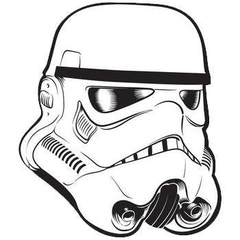 Stormtrooper clipart stormtrooper head. Line drawing at getdrawings