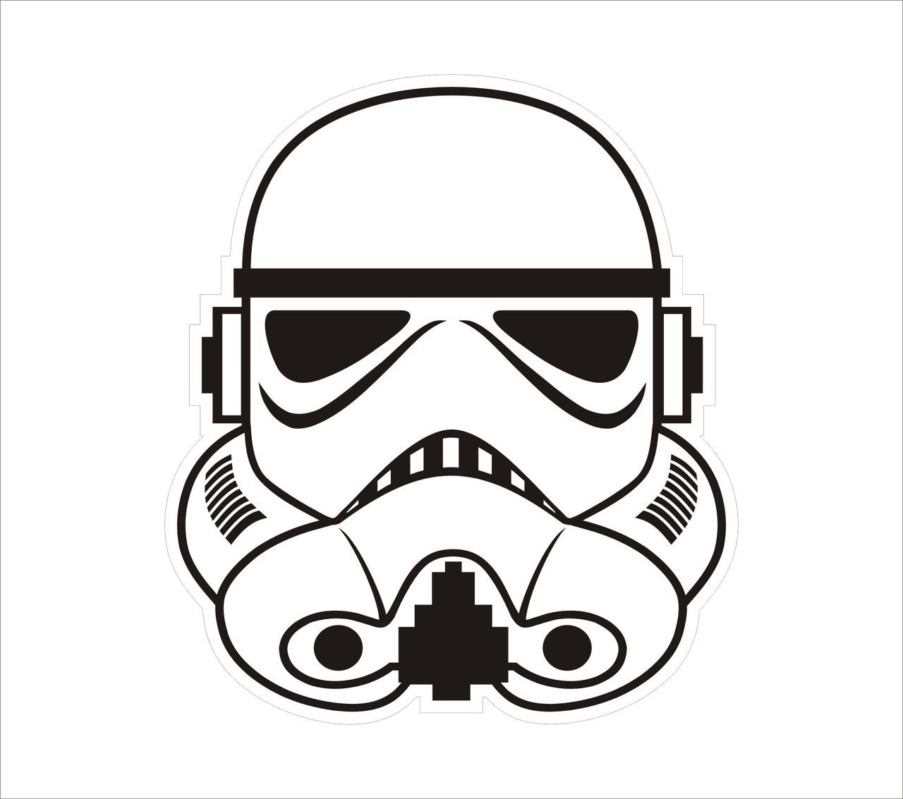 Stormtrooper clipart stormtrooper head. Drawing at getdrawings com