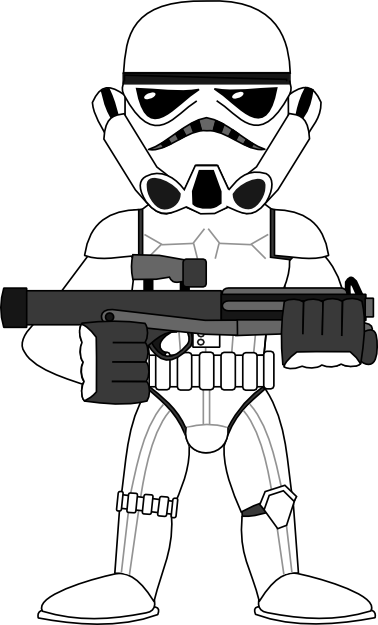 Stormtrooper svg cartoon. Clipart pencil and in