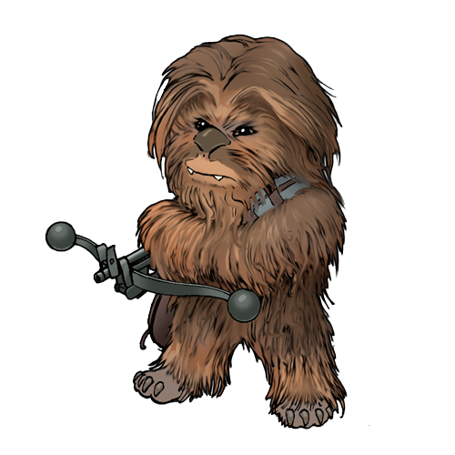 Leia drawing slaps. Chewie star wars forever