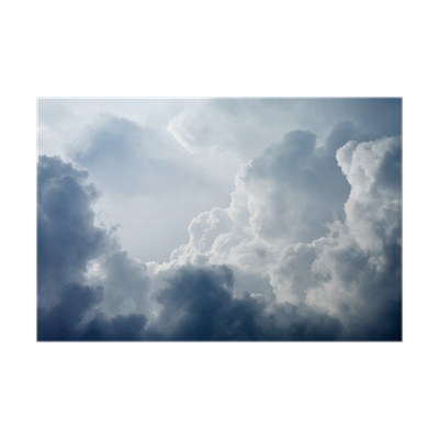 Stormy clouds png. Dramatic sky with poster