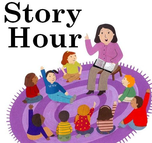 Story clipart story hour. All children are invited