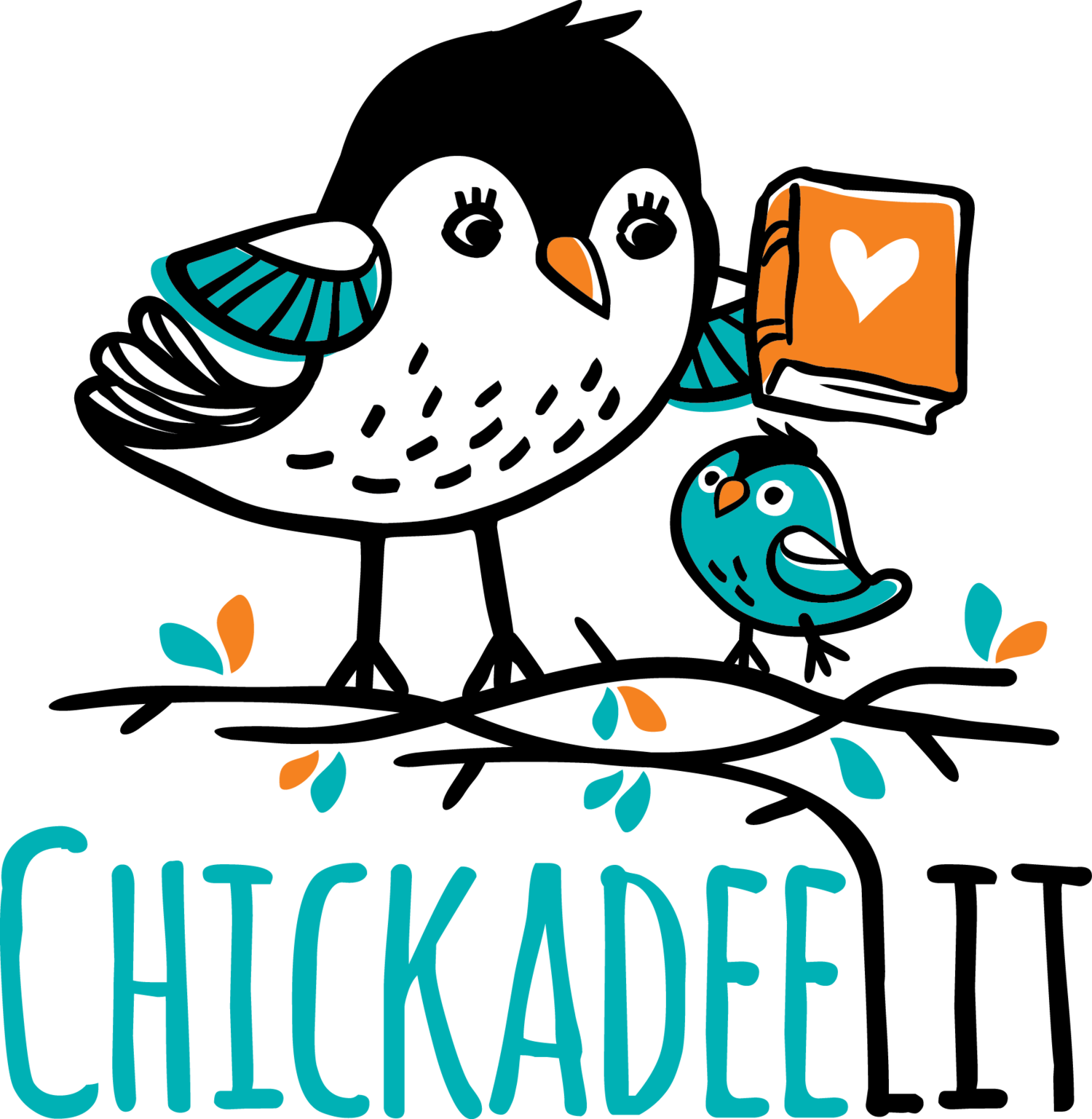 Chickadee vector clip art. Kids book reviews and