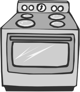 Stove clipart single stove. Top of black and