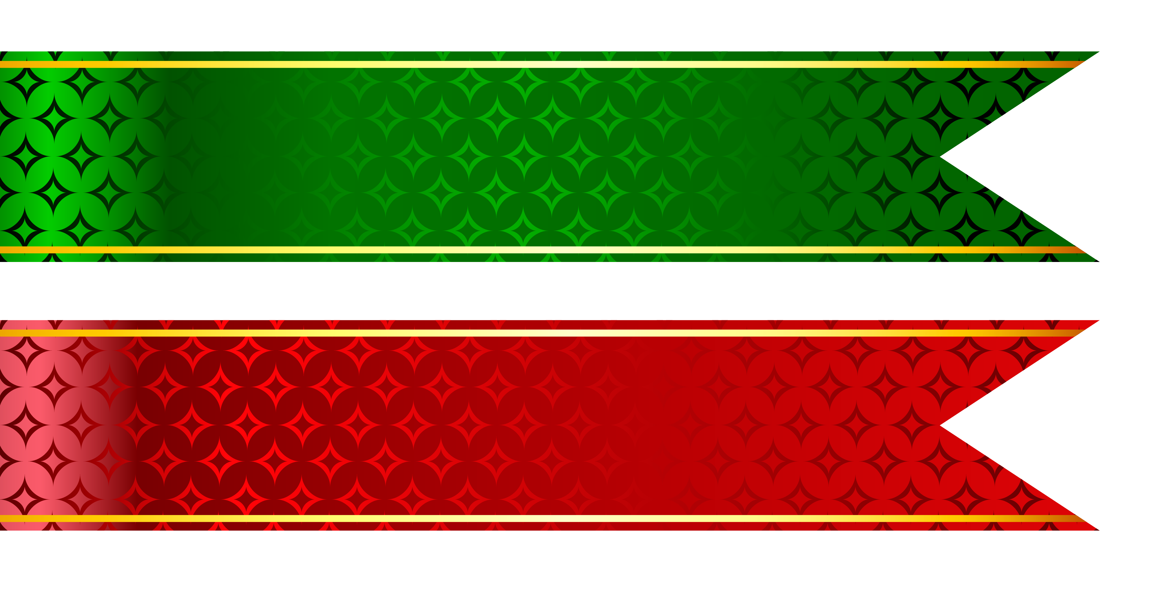 Straight banner png. Red and green tapes