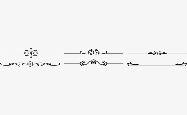 Straight clipart divider line. Vector creative lines dividing