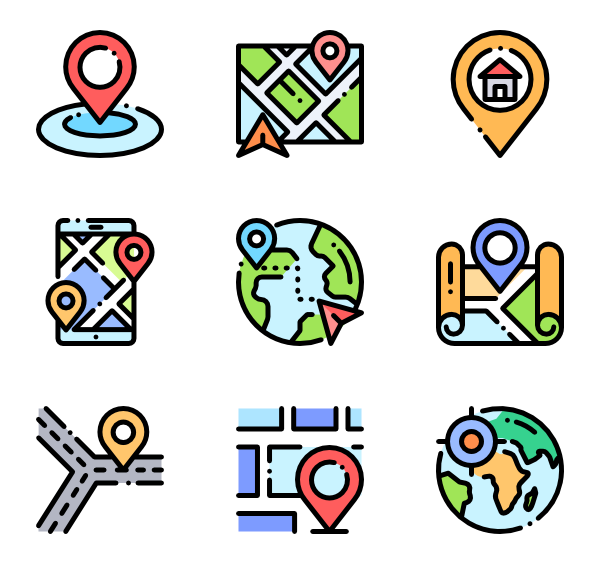 Straight clipart road way. Map icon packs