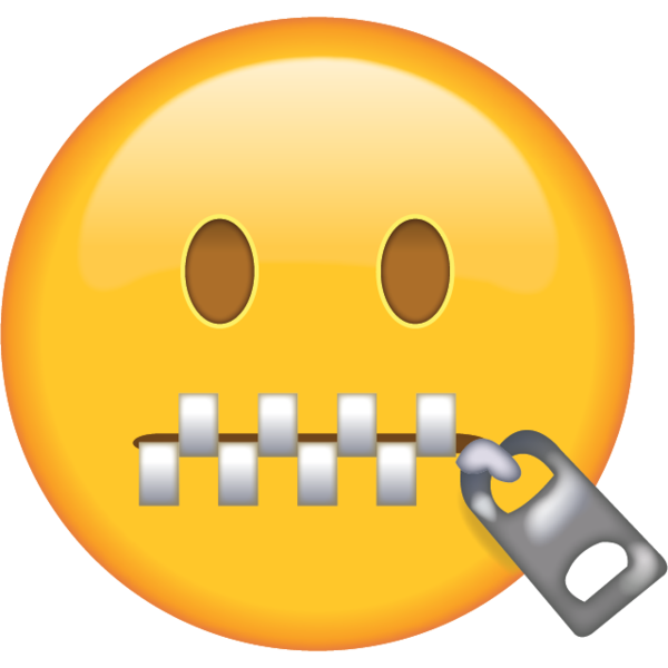 Straight face emoji png. Zipper mouth in when