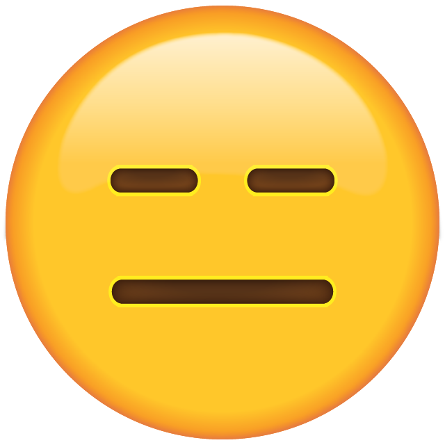 Straight face emoji png. World day emojis all