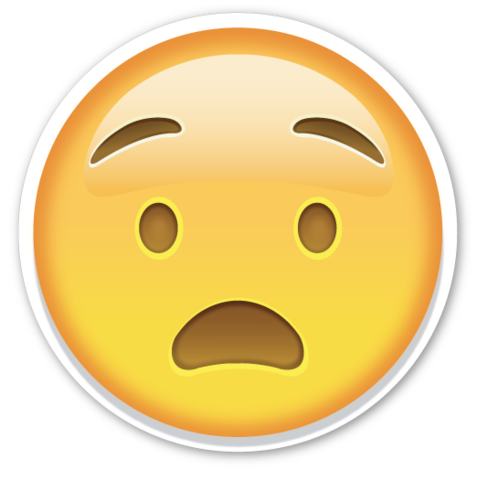 Straight face emoji png. Anguished emojis pinterest stickers