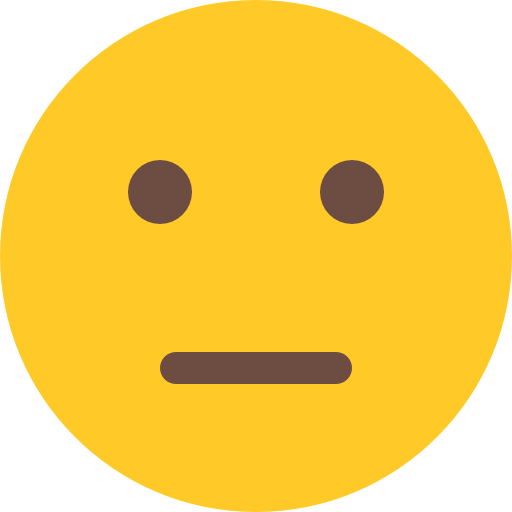 Straight face emoji png. Neutral free smileys icons
