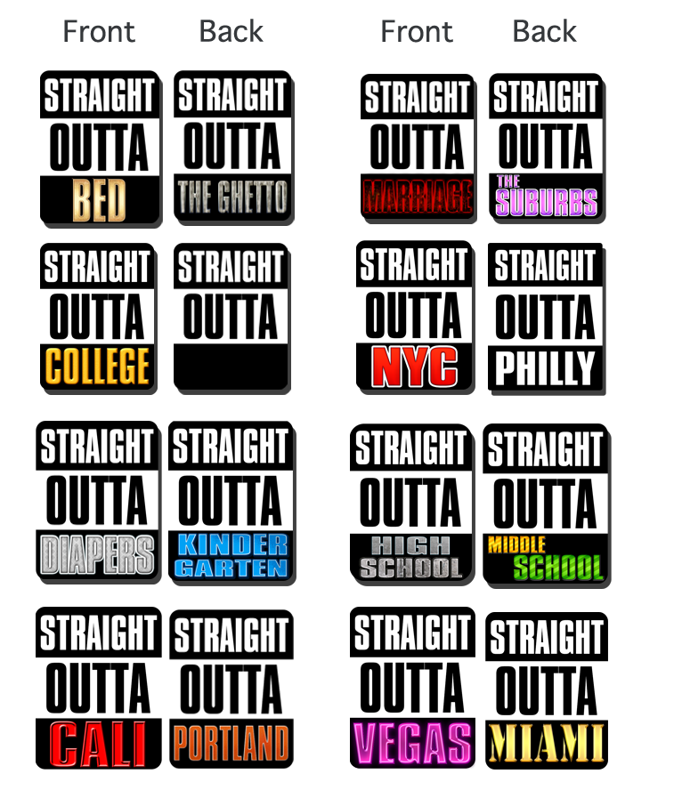 Straight outta blank png. Series pop studios props
