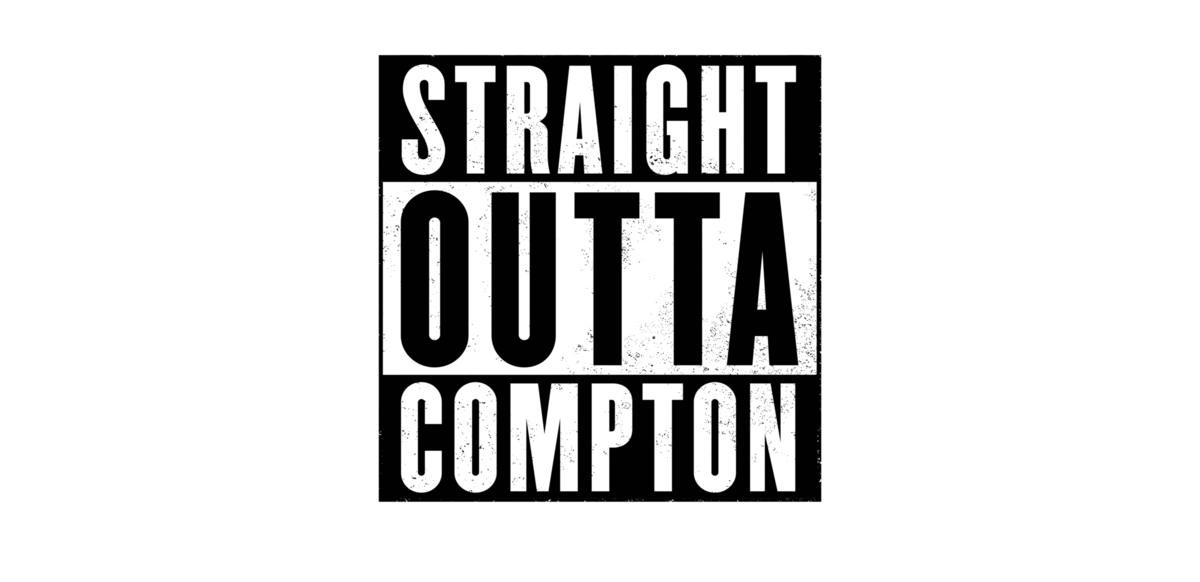 Straight outta blank png. Compton logos live cast