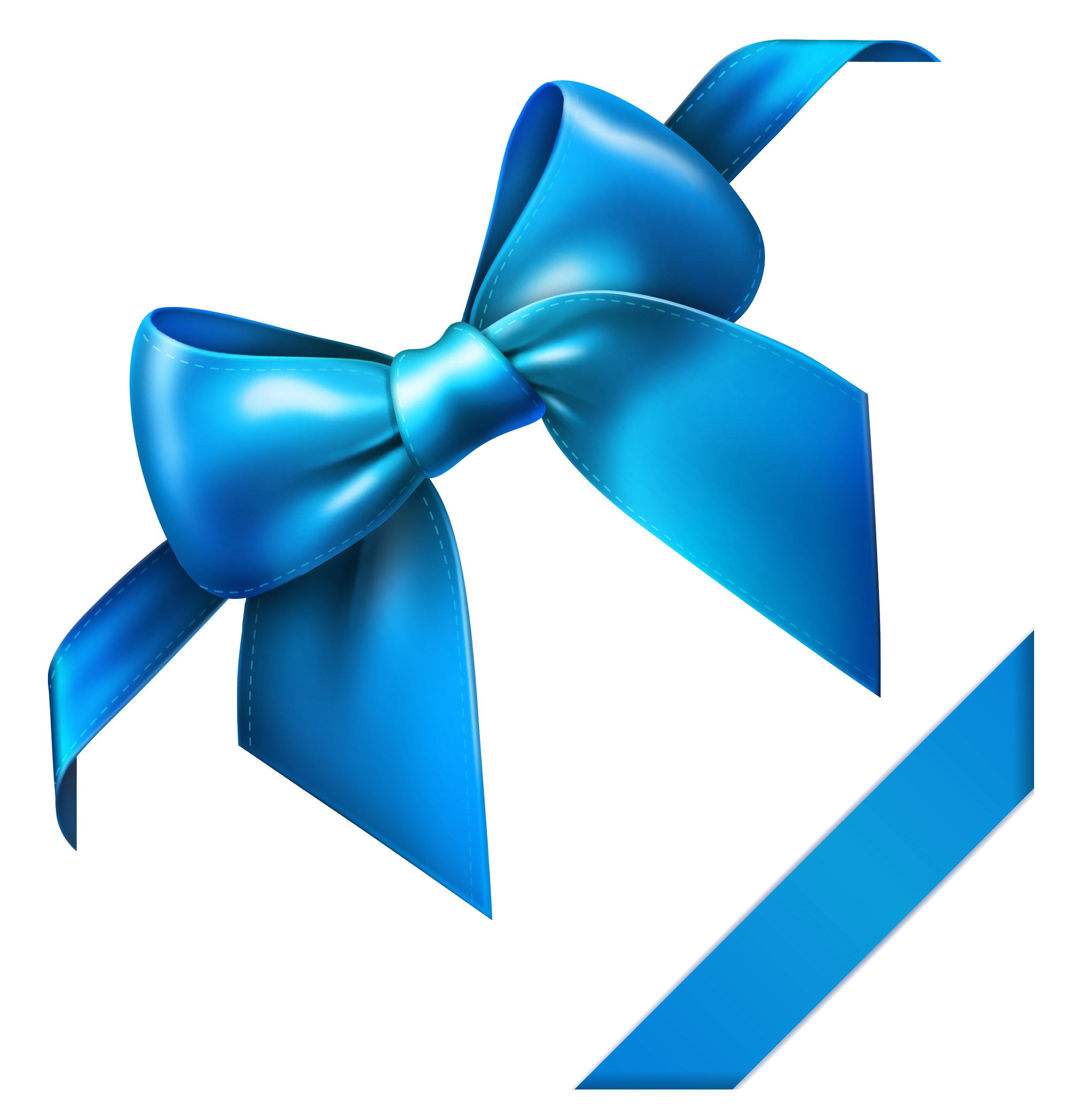 Straight ribbon banner png. Blue bow clipart picture