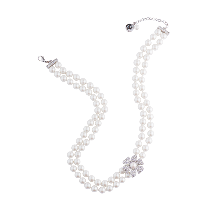 Strand of pearls png. Double pearl necklace with
