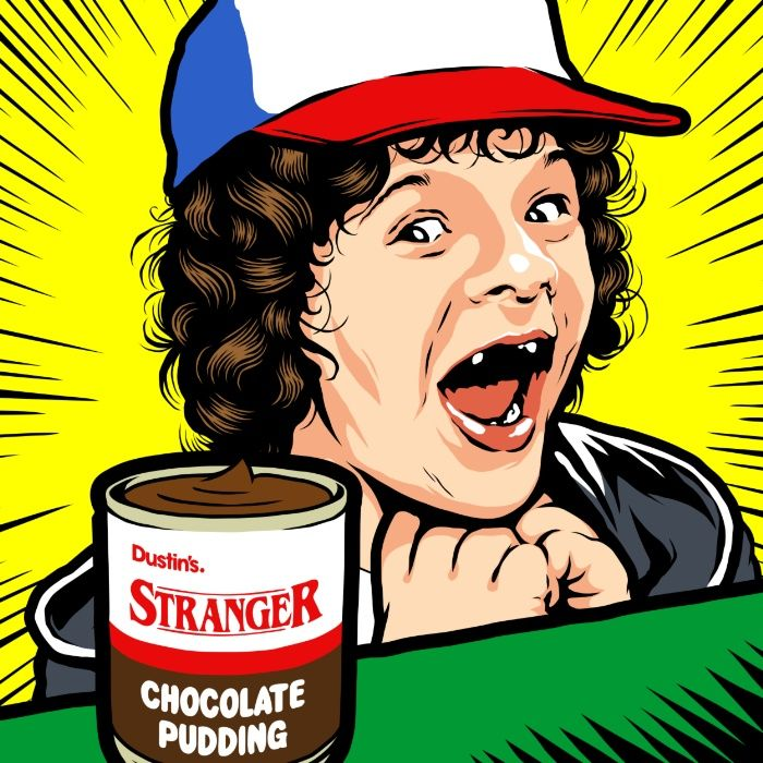 Stranger things clipart dustin. Coolpops pudding by butcher