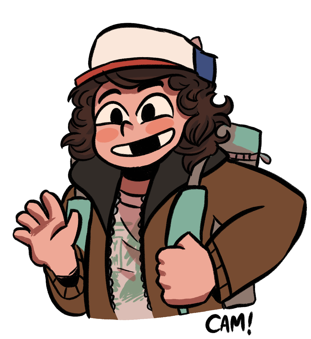 Stranger things clipart dustin. Cams dumb daily drawings