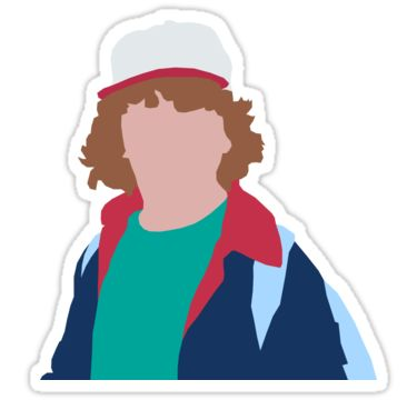 Stranger things clipart dustin. Best stickers images