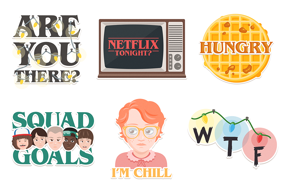 Netflix drawing stranger thing. Google allo gets support