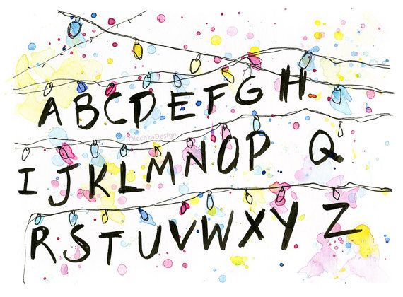 stranger things clipart watercolor