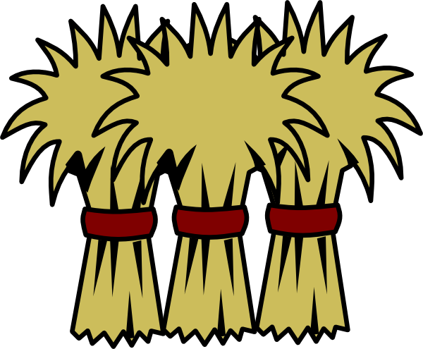 Straw clipart cute. Cartoon hay bale free