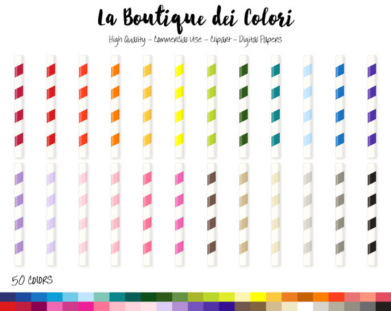 rainbow paper digital. Straw clipart cute freeuse download