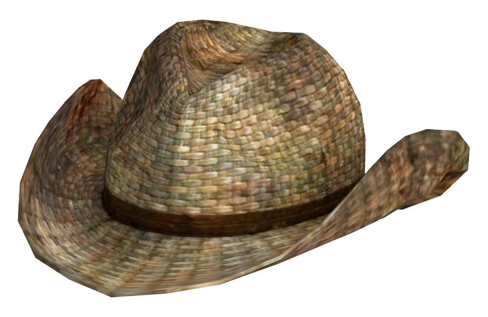Straw cowboy hat png. Image rattan fallout wiki