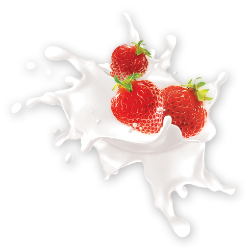 Strawberries and cream png. Fruits icon my seven