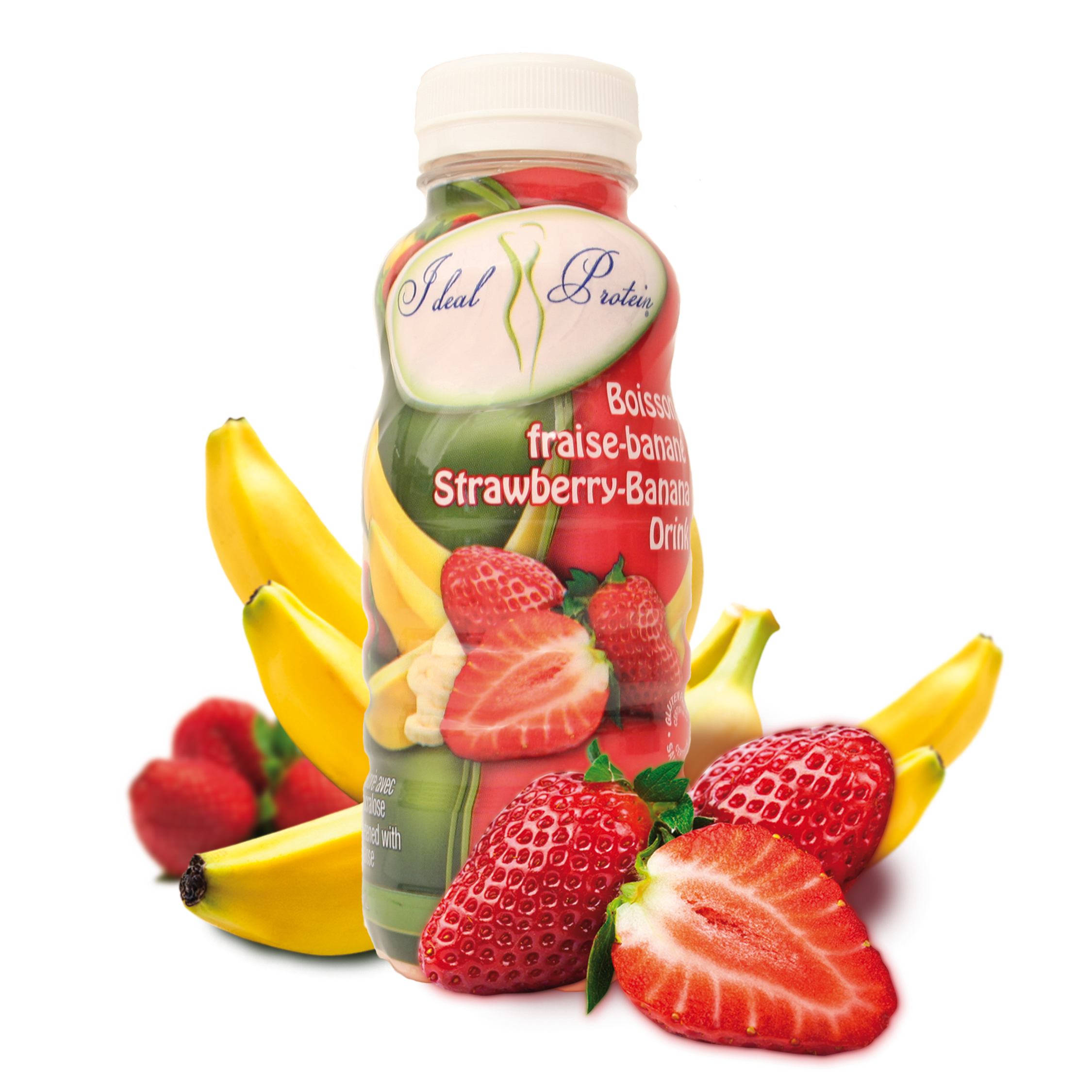 Strawberries banana png. Strawberry drink ready made