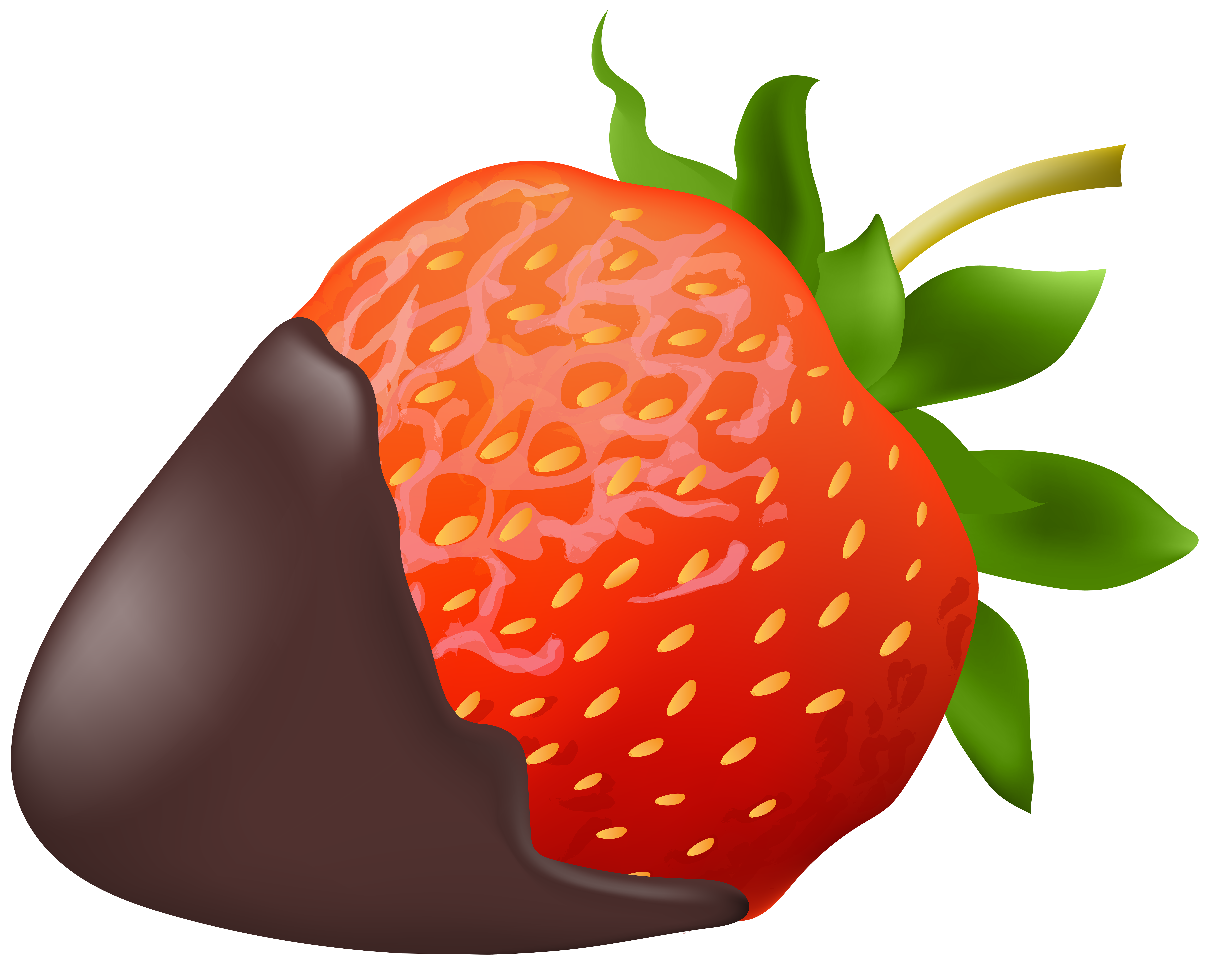 Strawberries clipart orange. Strawberry with chocolate png