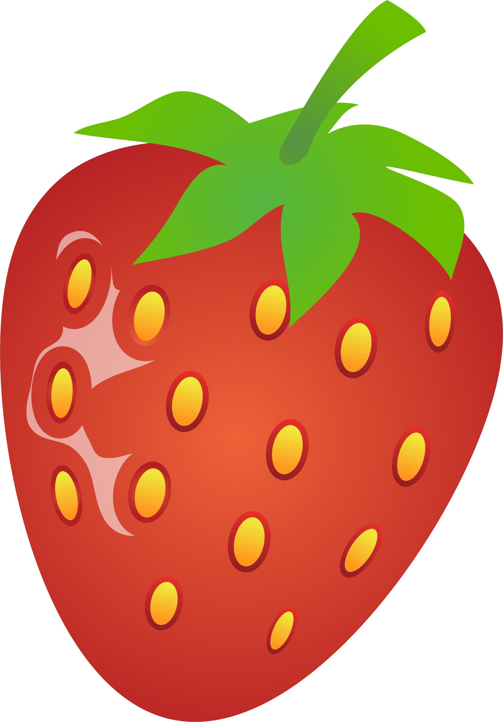 Strawberries clipart orange. Strawberry big image png