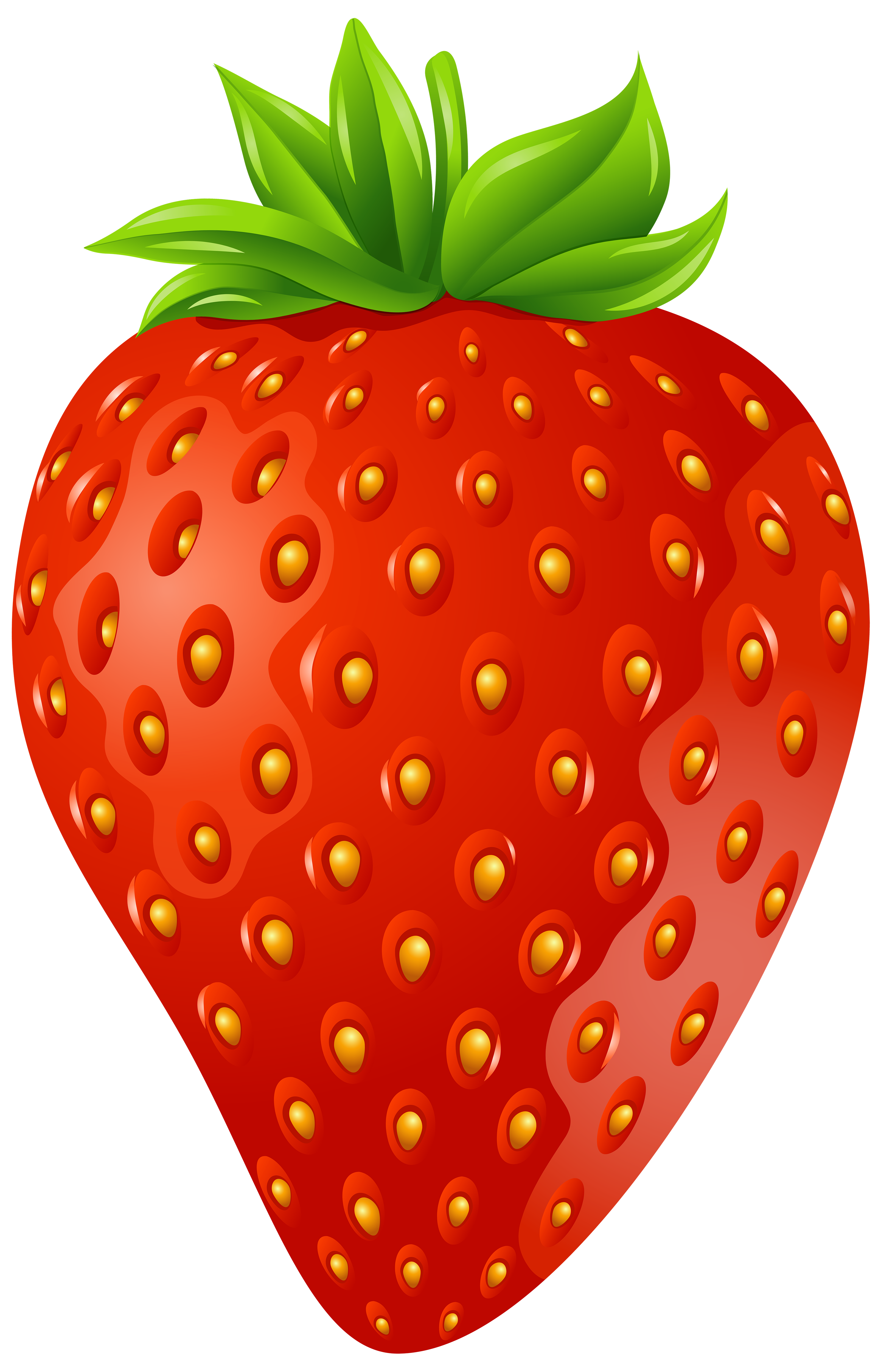 Strawberries clipart orange. Strawberry png clip art