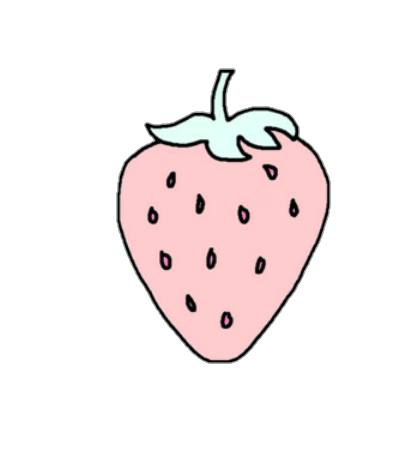 Strawberry clipart pink strawberry. Cute pastel pixel blue