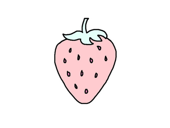 Strawberries clipart pastel. Tumblr strawberry posters by
