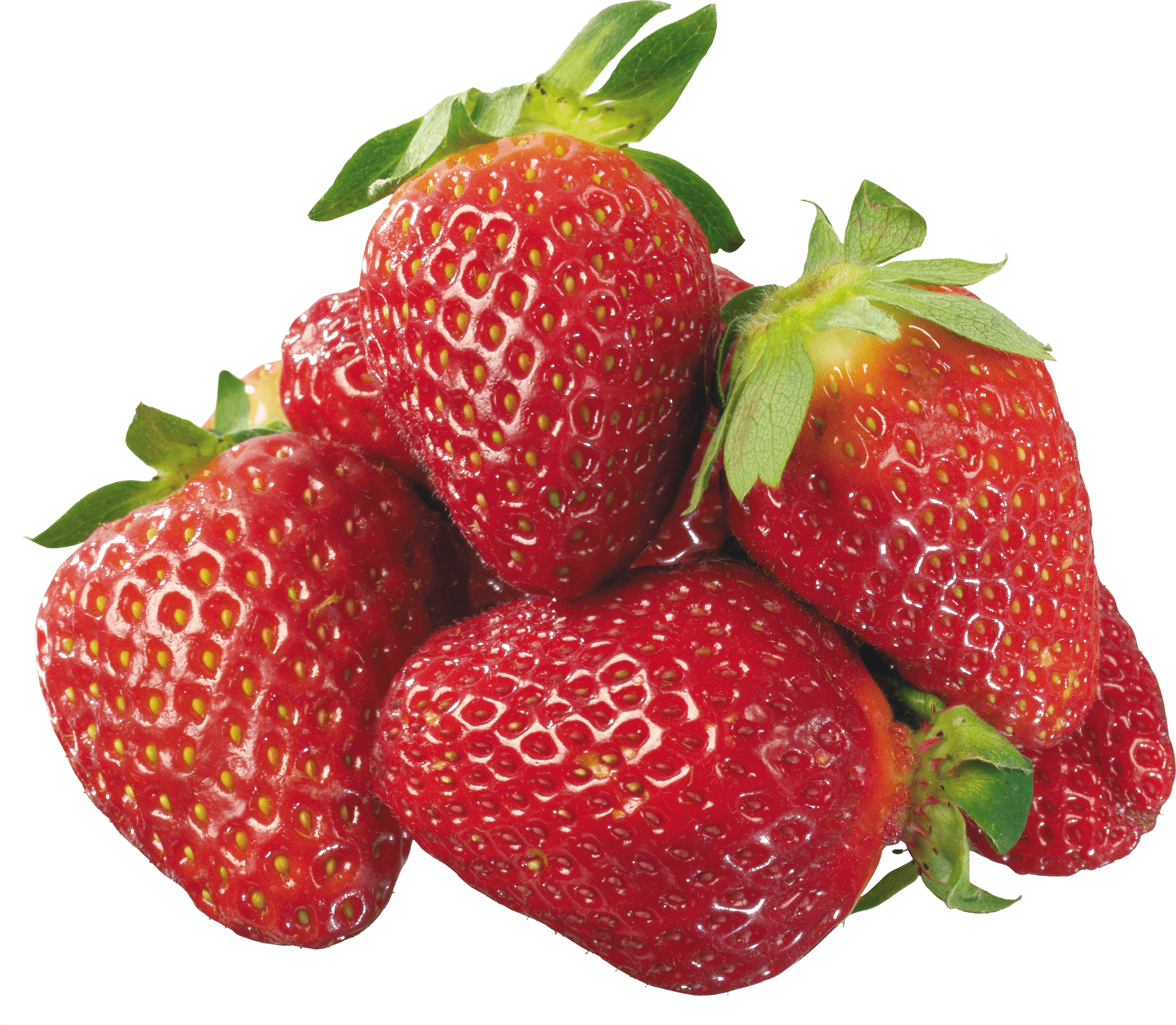 Strawberries png. Group of transparent stickpng