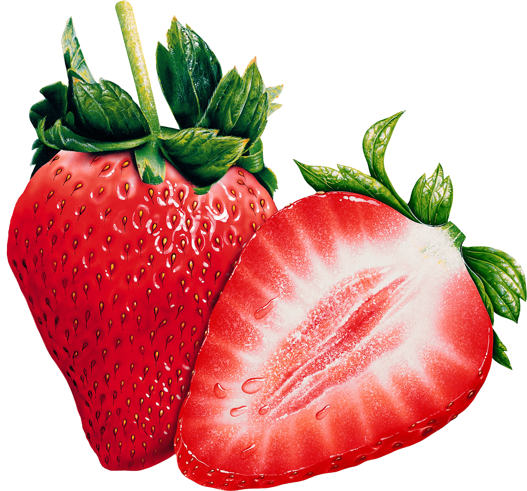 Strawberries transparent png. Open stickpng
