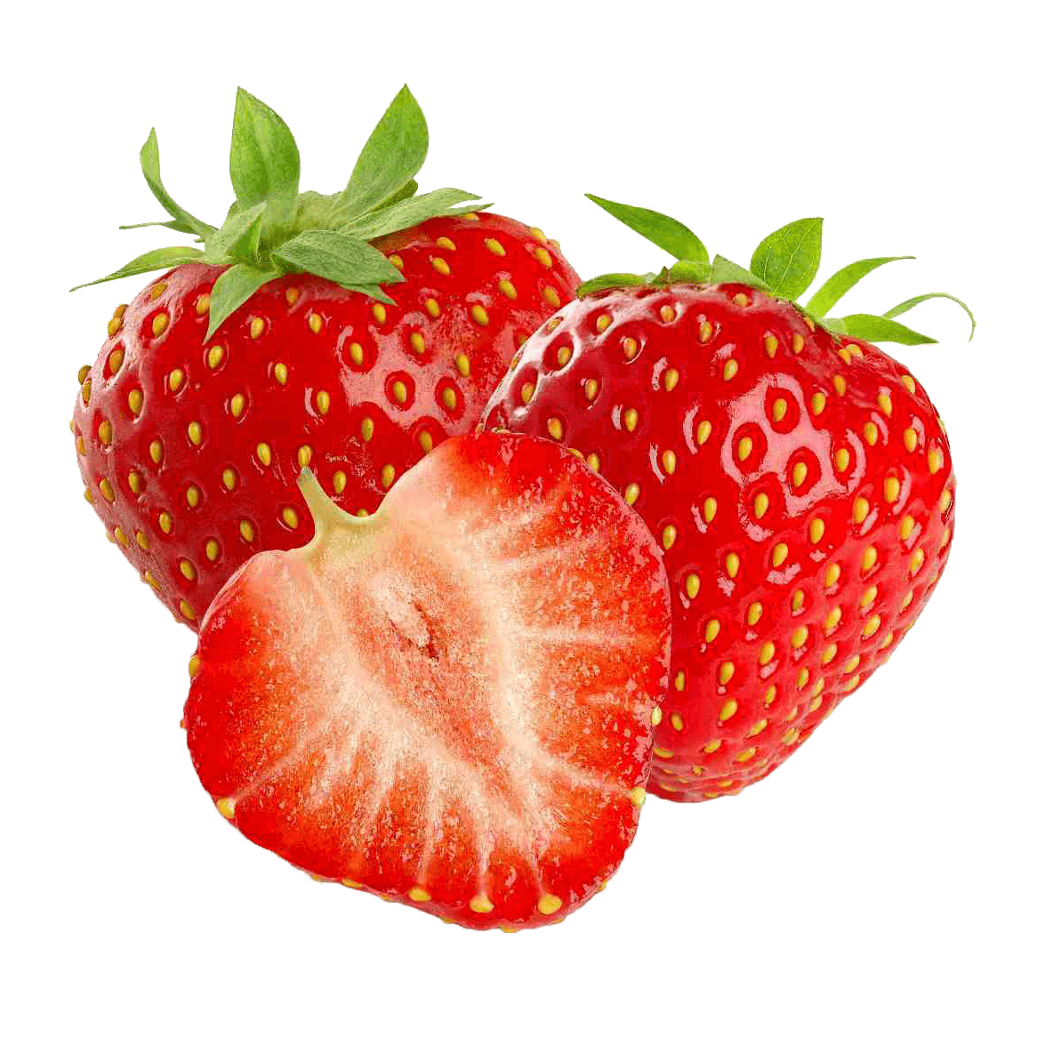 Strawberries transparent png. Three stickpng