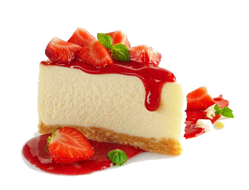Cheesecake transparent strawberry. Pie frutti di bosco